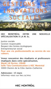HEC MTL Gestion & innovations sociales