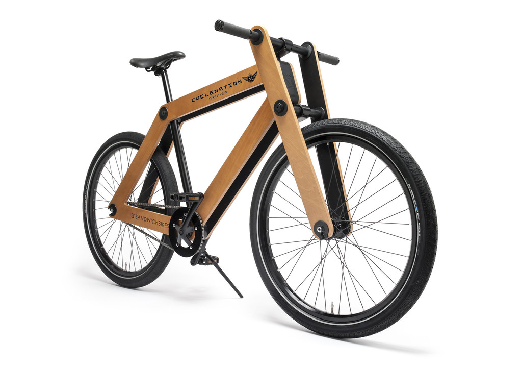 le sandwichbike le v lo en bois monter soi m me made in amsterdam z bre solidaire. Black Bedroom Furniture Sets. Home Design Ideas